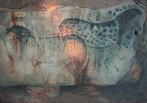 רפליקה של ציור סוסים ממערת פש-מרל.