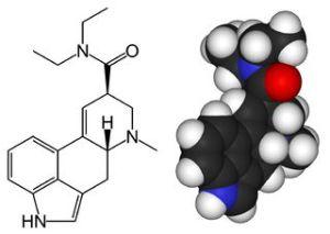 מולקולת LSD. מתוך ויקיפדיה.