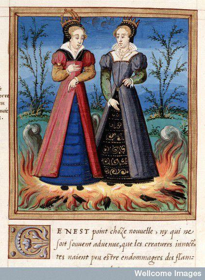 זוג נסיכות נוצריות שלא ניזוקו מאש