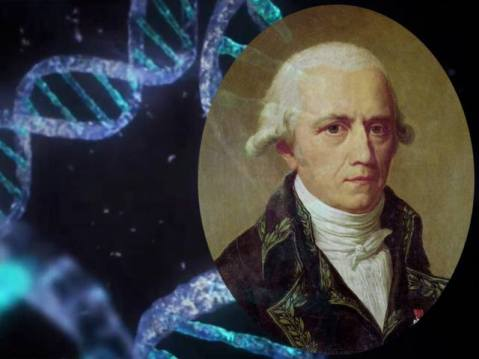 ז'אן בטיסט למארק דה מונה, האביר מלמארק על רקע DNA