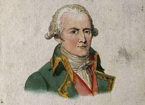 ז'אן בטיסט דה מונה, האביר מלמארק. תחריט צבעוני.