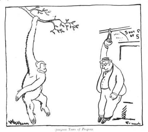 קריקטורה: 700,000 שנות התקדמות