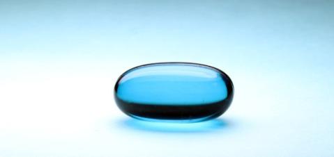 קפסולת ג'ל כחולה